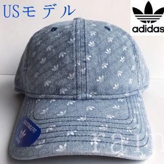 アディダス(adidas)のレア【新品】adidas アディダス USA ロゴ柄 デニムキャップ(キャップ)