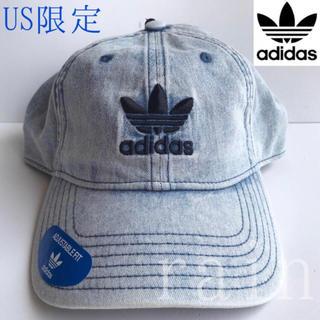 アディダス(adidas)のレア【新品】adidas アディダス USA デニムキャップ(キャップ)