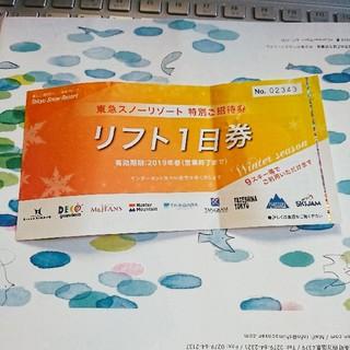 【saki様専用.購入不可】スキー場リフト無料券(スキー場)