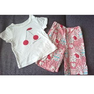 アカチャンホンポ(アカチャンホンポ)の女の子☆サクランボ柄☆パジャマ☆80(パジャマ)