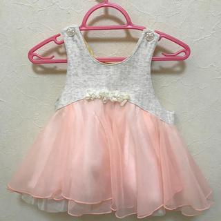 キッズズー(kid's zoo)のキッズズー 80cm ベビー ドレス チュニック ピンク(ドレス/フォーマル)