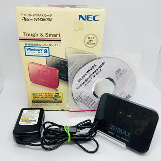 エヌイーシー(NEC)のNEC モバイル wiMAXルーター Aterm WM3600R(PC周辺機器)