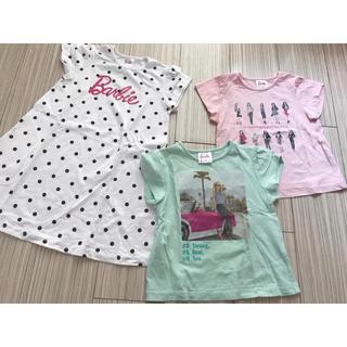 ジーユー(GU)のバービー 女の子Tシャツ 3点セット(Tシャツ/カットソー)