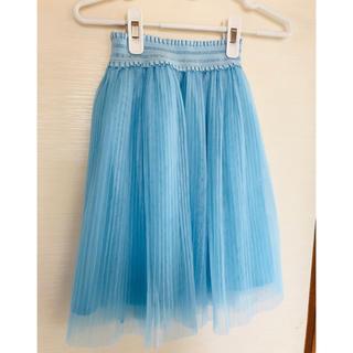 ジーユー(GU)の女の子(*´ω`*)120*ブルー スカート(スカート)
