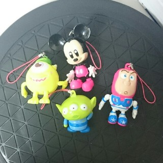 ディズニー(Disney)のディズニー ストラップ ミッキー バズ リトルグリーンメン マイク (ストラップ/イヤホンジャック)