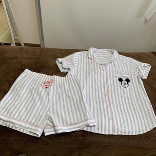 ジーユー(GU)のミッキー  ストライプ パジャマ ルームウェア(パジャマ)