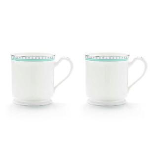 ティファニー(Tiffany & Co.)の【新品】ティファニー  プラチナブルーバンドマグカップ  (グラス/カップ)