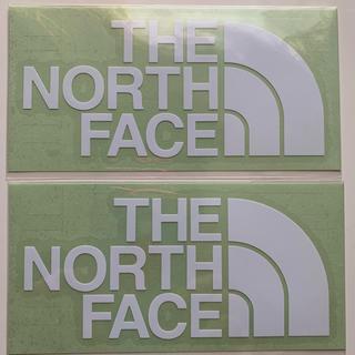 ザノースフェイス(THE NORTH FACE)のザノースフェイス ステッカー ロゴ ノース 白2枚(ステッカー)
