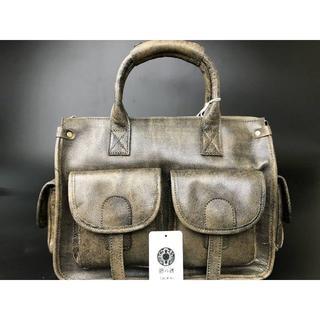 手作り手染バックパック メンズ本革 2WAYバッグ ショルダーバッグ 鞄(セカンドバッグ/クラッチバッグ)