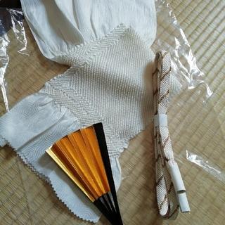 留袖用帯締め帯揚げ+末広セット 礼装にも(和装小物)