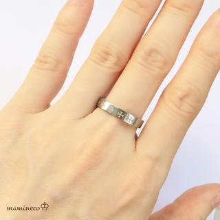 16号サイズ ステンレス製 アイアンクロス模様リング 指輪 (リング(指輪))