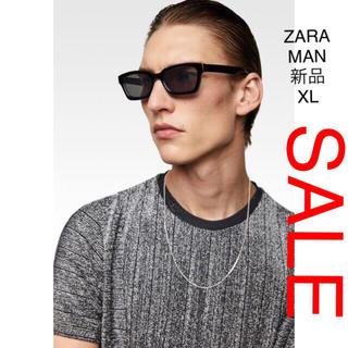 ザラ(ZARA)のZARA MAN メタリック糸 ディテール入り ニット(ニット/セーター)