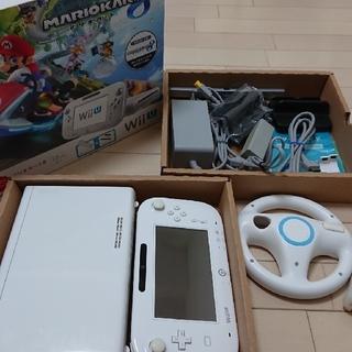 ウィーユー(Wii U)の即決可・送料無料・wiiU マリオカート8セット・完品(家庭用ゲーム本体)