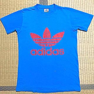 アディダス(adidas)のadidas 希少 80s ‼️USA製‼️両面プリント‼️(Tシャツ/カットソー(半袖/袖なし))