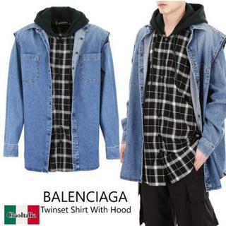 バレンシアガ(Balenciaga)のBALENCIAGATwinset Shirt With Hood 新品 未使(シャツ)