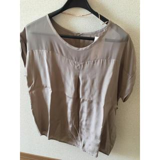ジーユー(GU)の新品タグ付き カットソー ゆるTブラウス GU(シャツ/ブラウス(半袖/袖なし))
