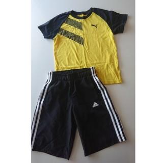 アディダス(adidas)の男の子130半袖半ズボン プーマ アディダス(Tシャツ/カットソー)