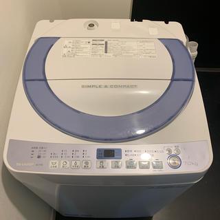 シャープ(SHARP)のSHARP ES-T708 全自動洗濯機 7.0kg(洗濯機)