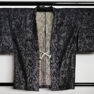 紋紗羽織、紺地に幾何学模様(その他)