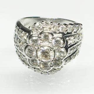 値下げ 新品❣️Pt900 プラチナ ダイヤモンド リング 指輪 豪華 大人女子(リング(指輪))