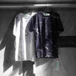 オフホワイト(OFF-WHITE)の欧州限定 新品 S Off-White × Mr.porter コラボ Tシャツ(Tシャツ/カットソー(半袖/袖なし))
