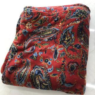 ラルフローレン(Ralph Lauren)のペイズリー ブランケット 赤 大判(毛布)