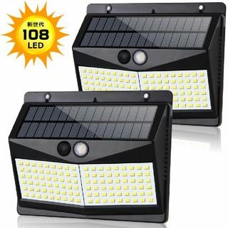 108LED センサーライト ソーラーライト(蛍光灯/電球)