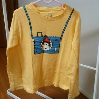 ファミリア(familiar)のファミリア スヌーピー 薄黄色 長袖シャツ 120(Tシャツ/カットソー)