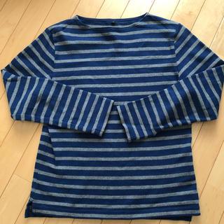 ムジルシリョウヒン(MUJI (無印良品))の無印良品 ボーダー カットソー メンズ M(Tシャツ/カットソー(七分/長袖))