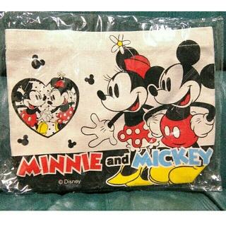 ディズニー(Disney)のミッキー&ミニー ミニトートバッグ ディズニー タグ付き プライズ品 新品未使用(トートバッグ)