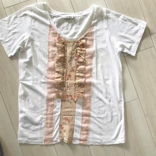 ミュウミュウ(miumiu)のミュウミュウ フリルカットソー Tシャツ トップス ブラウス(カットソー(半袖/袖なし))