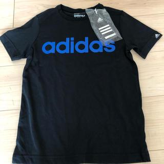 アディダス(adidas)の新品 adidas ブラックTシャツ 140センチ(Tシャツ/カットソー)