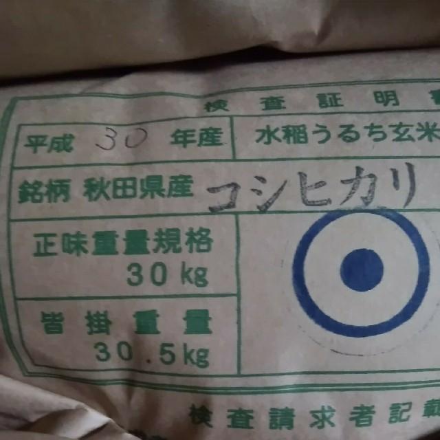 コシヒカリ玄米24.5キロ減農薬 食品/飲料/酒の食品(米/穀物)の商品写真