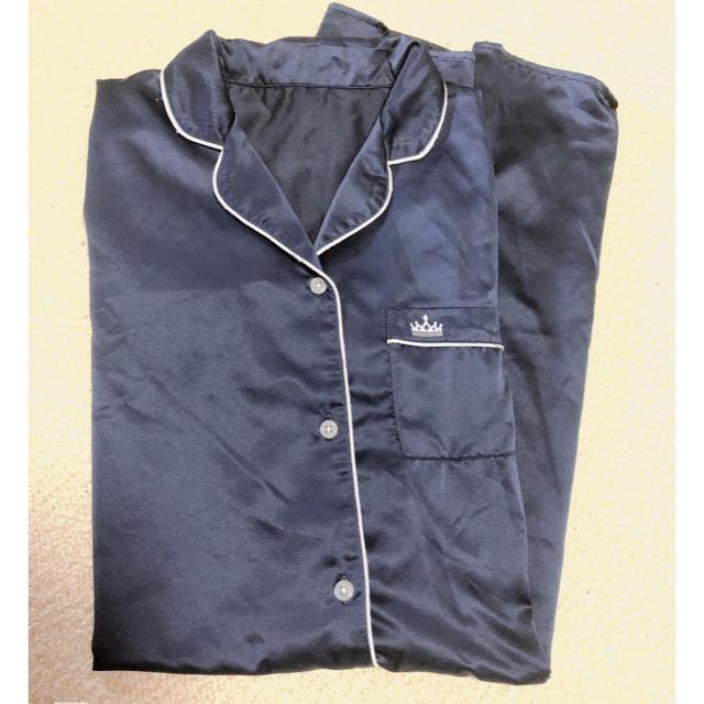 GU(ジーユー)のGU サテンワンピースパジャマ 半袖 レディースのルームウェア/パジャマ(パジャマ)の商品写真