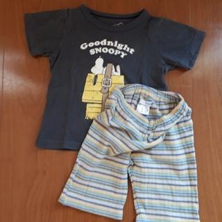 ファミリア(familiar)のfamiliar スヌーピー半袖Tシャツ 七分丈パンツ(Tシャツ/カットソー)