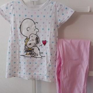 ジーユー(GU)の120cm GU スヌーピー パジャマ 半袖(パジャマ)