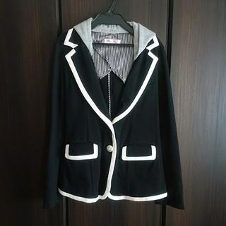 バイバイ(ByeBye)の美品☆byebey フード付きジャケット ブラック(テーラードジャケット)