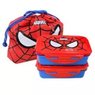 マーベル(MARVEL)の新品 ! スパイダーマン 弁当箱 キッズ 子供 マーベル 2段 弁当袋 男の子(弁当用品)