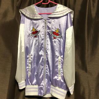 スピンズ(SPINNS)のセーラー服 セーラー襟スカジャン パープル(スカジャン)