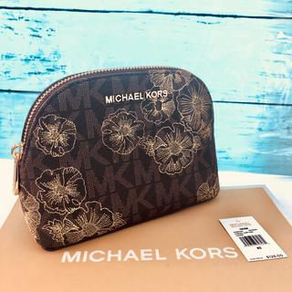 c9d0ca8ac6b9 マイケルコース(Michael Kors)の新品 MK マイケルコース 化粧ポーチ 高級 刺繍 ブラウン