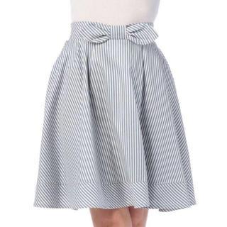 リズリサ(LIZ LISA)のLIZ LISA☆新品♪Tralala*ミモレ丈ストライプうさぎフレアスカート(ひざ丈スカート)