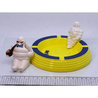 陶器製ミシュランビバンダム灰皿+BICコラボライター立て