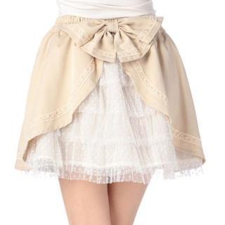 リズリサ(LIZ LISA)のLIZ LISA☆新品♪Tralala*リボン付きバッスルドットチュールスカート(ミニスカート)