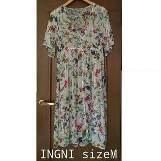 イング(INGNI)の1度の着用⭐INGNI 花柄シフォンカーディガンsizeM(カーディガン)