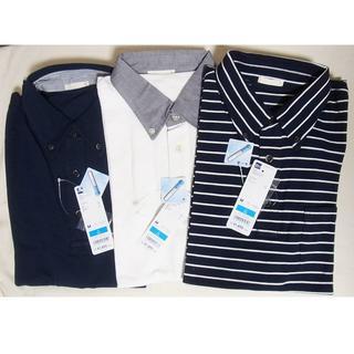 ジーユー(GU)のタグ付新品GUジーユー*COOLMAXボタンダウンポロシャツ3枚セット/M(ポロシャツ)