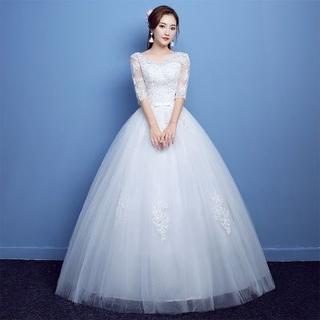 レディース 花嫁ドレス ウェディングドレス 披露宴 二次会 ロングドレス