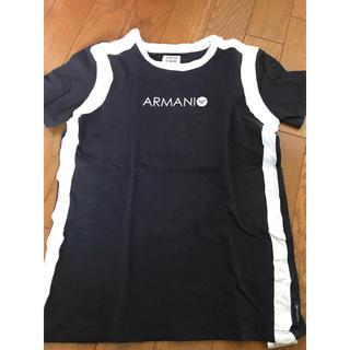 アルマーニ ジュニア(ARMANI JUNIOR)のアルマーニジュニア Tシャツ 黒(Tシャツ/カットソー)