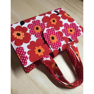レビューブックカバー赤花(ブックカバー)