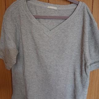 GU - ジーユー GU ワッフルTシャツ ワッフルT 半袖