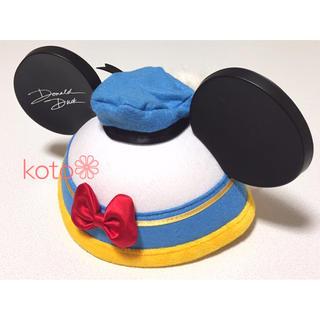 ディズニー(Disney)のディズニー ドナルド イヤーハット ファンキャップ(キャラクターグッズ)